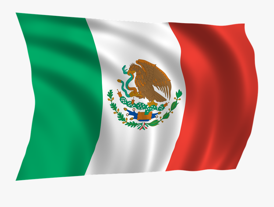Download Mexico Flag Png Images Background - Bandera De Mexico Ondeando, Transparent Clipart