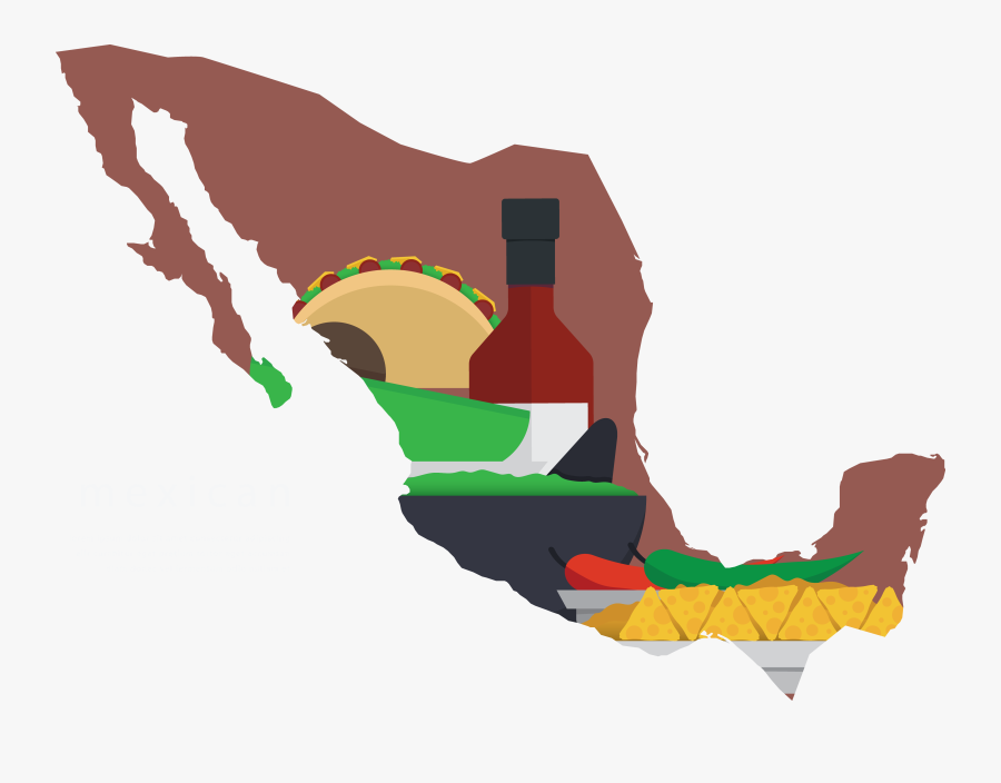 Mexico Silhouette At Getdrawings - Central America And Mexico Map Png, Transparent Clipart