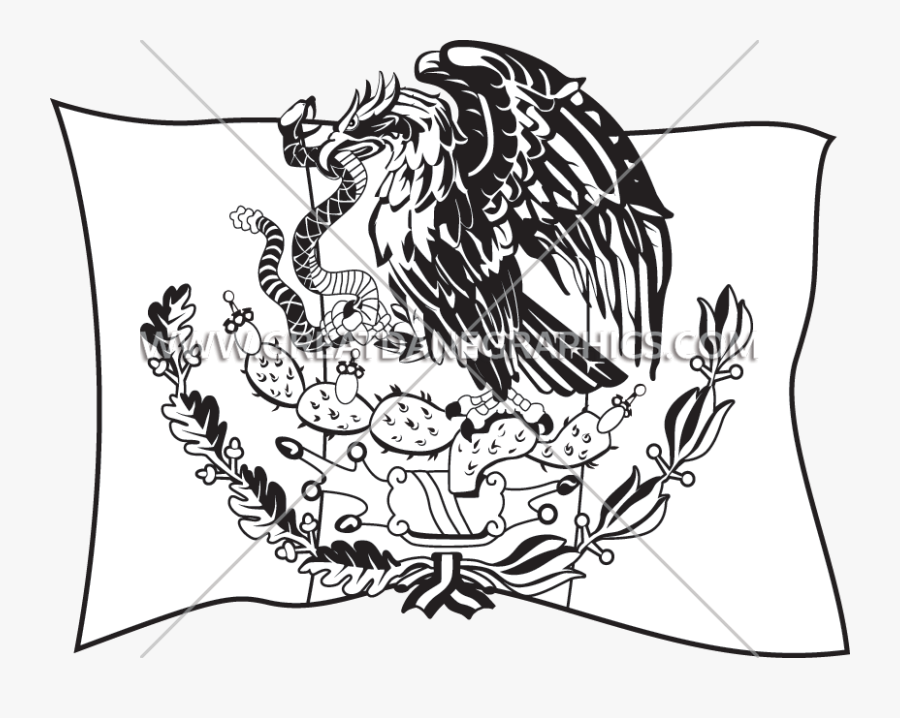 Transparent Mexican Flag Png - Coat Of Arms Of Mexico, Transparent Clipart