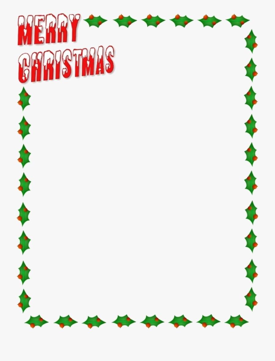 Christmas Border Xmas Clipart X Transparent Png - Kids Christmas Border Clipart, Transparent Clipart