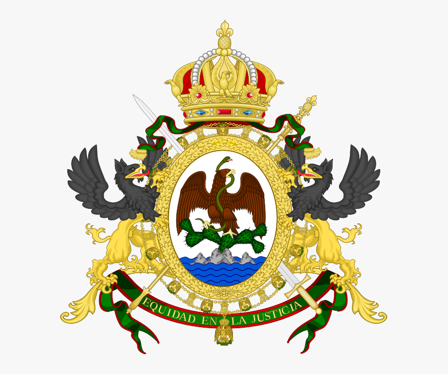 Second Mexican Empire Coat Of Arms Clipart , Png Download - Second Mexican Empire Flag, Transparent Clipart