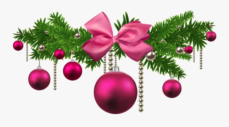 Clip Art Balls Decoration Png Gallery - Pink Christmas Decorations Png, Transparent Clipart