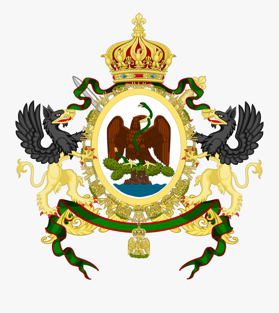 Mexican Eagle Png - Second Mexican Empire Flag, Transparent Clipart