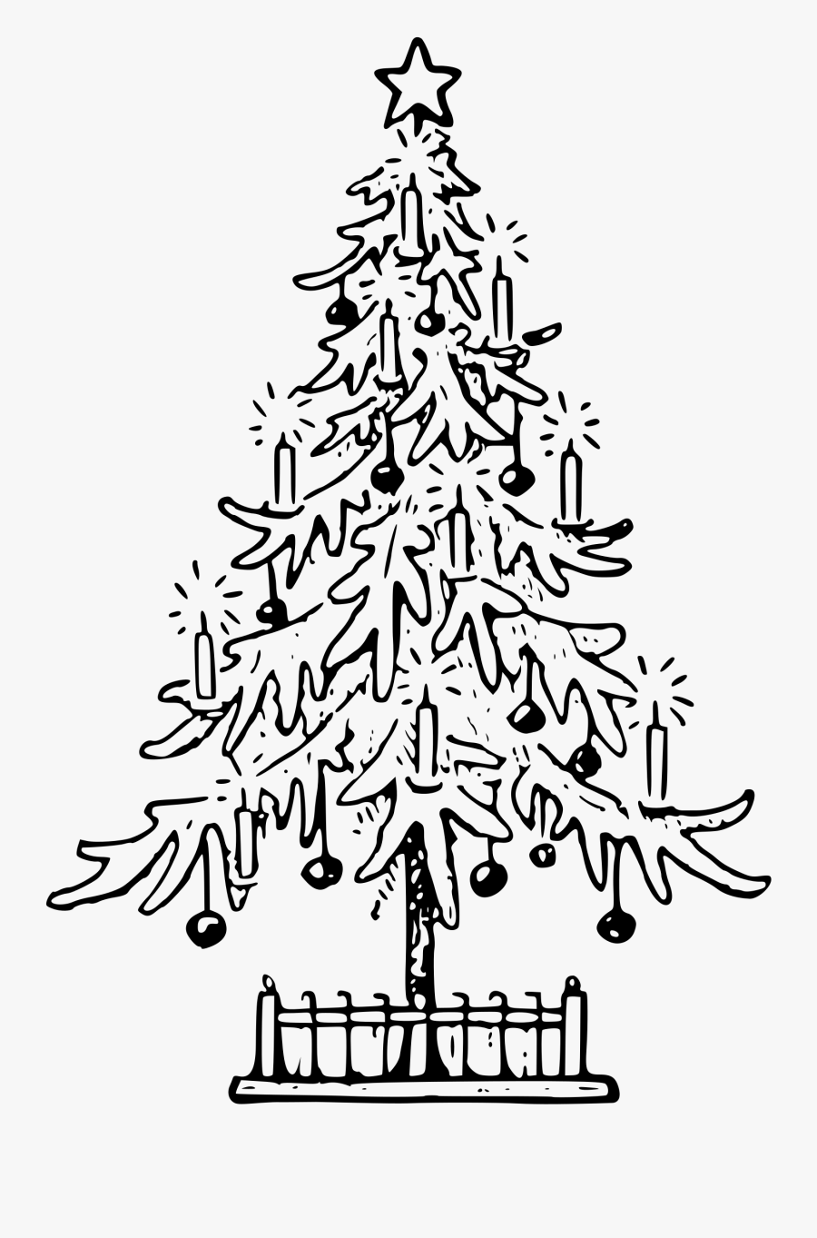 Exploit Christmas Tree Drawing Outline Clipart Lutz - Christmas Tree Drawing Png, Transparent Clipart