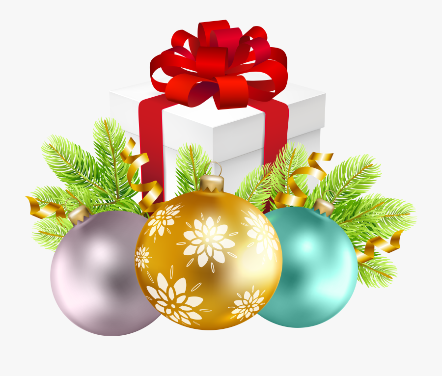 Picture Freeuse Download Christmas Decoration With - Christmas Gift Box Png, Transparent Clipart