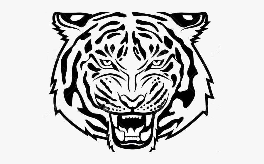 Tiger Free White Clipart Clip Art On Transparent Png - Tiger Football Svg, Transparent Clipart