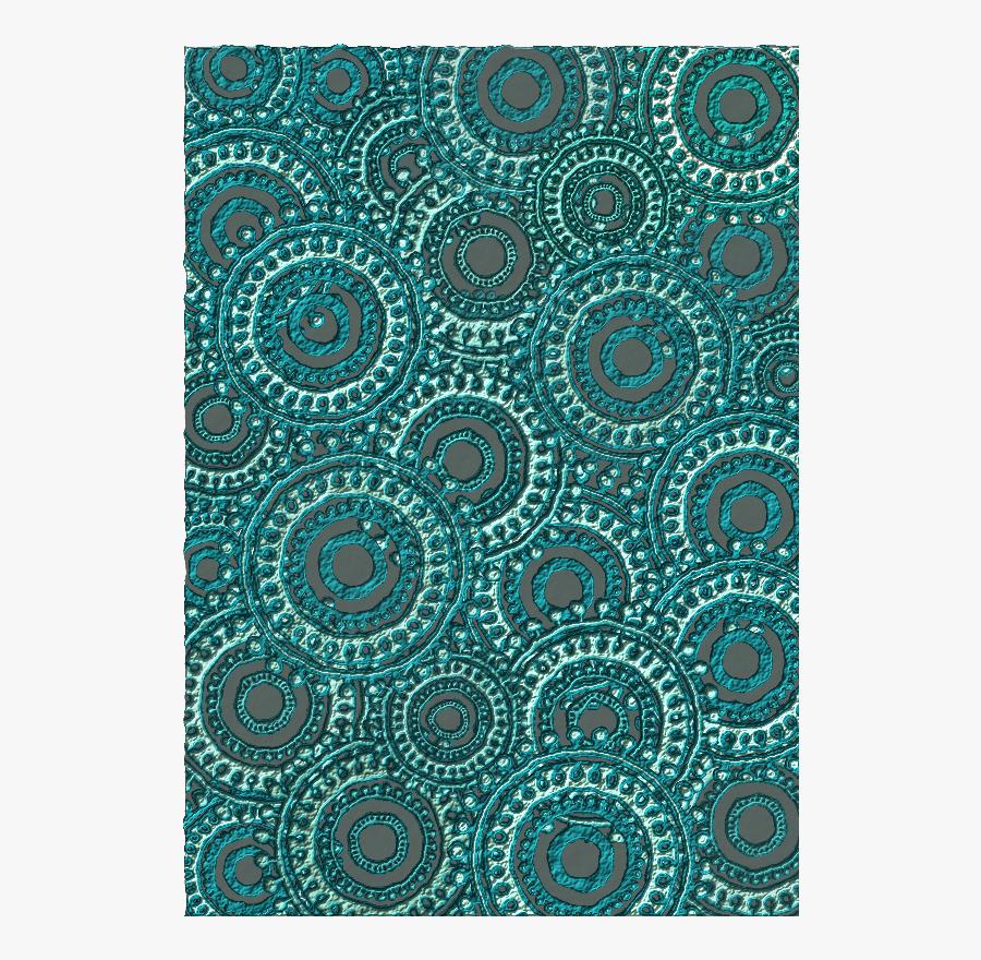Teal Circle Pattern Scrapbook Paper - Circle, Transparent Clipart