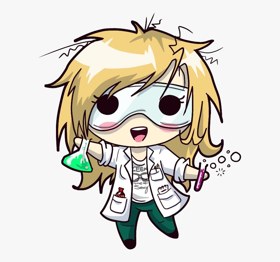 Squishy Scientist - Science Chibi, Transparent Clipart