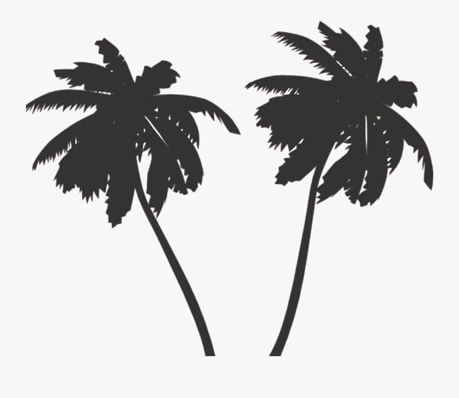 Transparent Tropical Island Clipart Black And White - Palm Tree Vector Png, Transparent Clipart