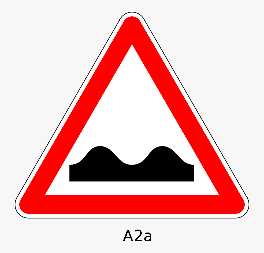 Transparent Bumpy Road Clipart - Signs Used To Warn Us Of Danger, Transparent Clipart