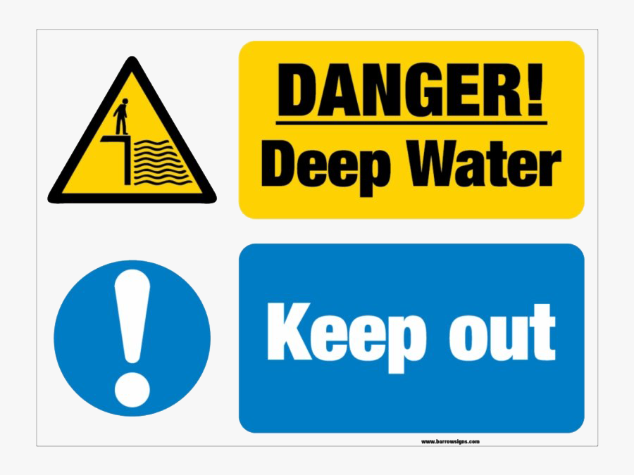 Keep Out Danger Png Clipart - Deep Water Sign, Transparent Clipart