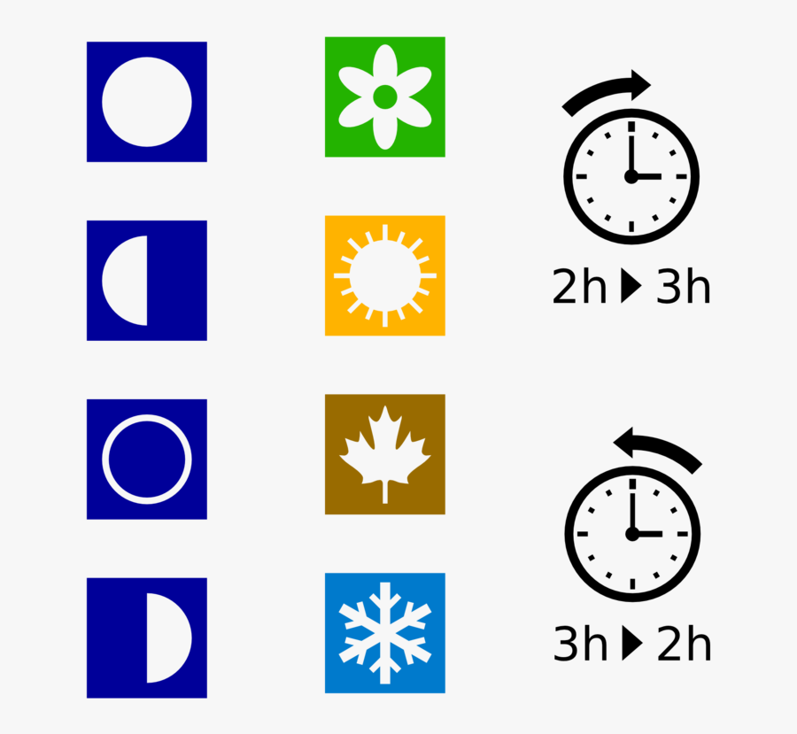 Moon Phases, Seasons Dst Symbols Clip Art Download - Detroit Free Press Marathon, Transparent Clipart