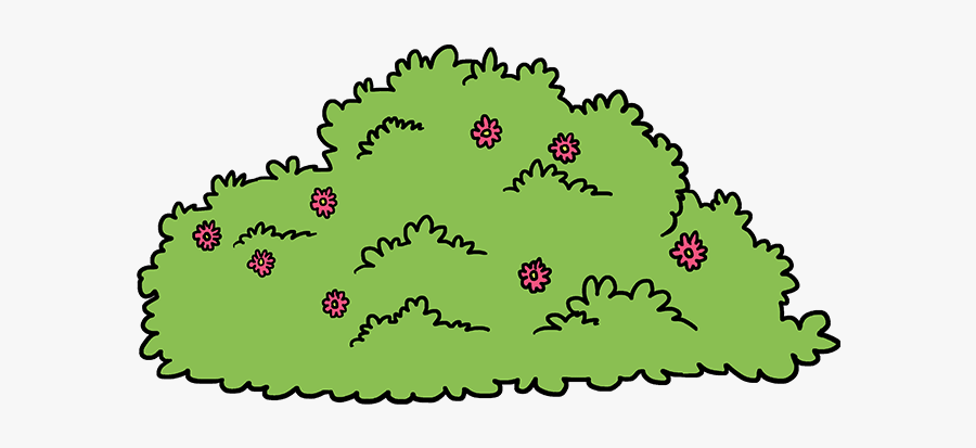 How To Draw Bush - Bush Drawing, Transparent Clipart