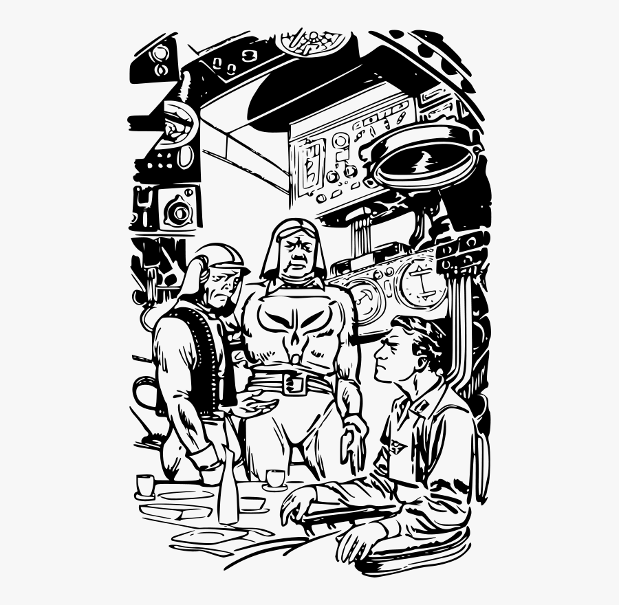 Danger In Deep Space 27 - Public Domain Sci Fi Art, Transparent Clipart