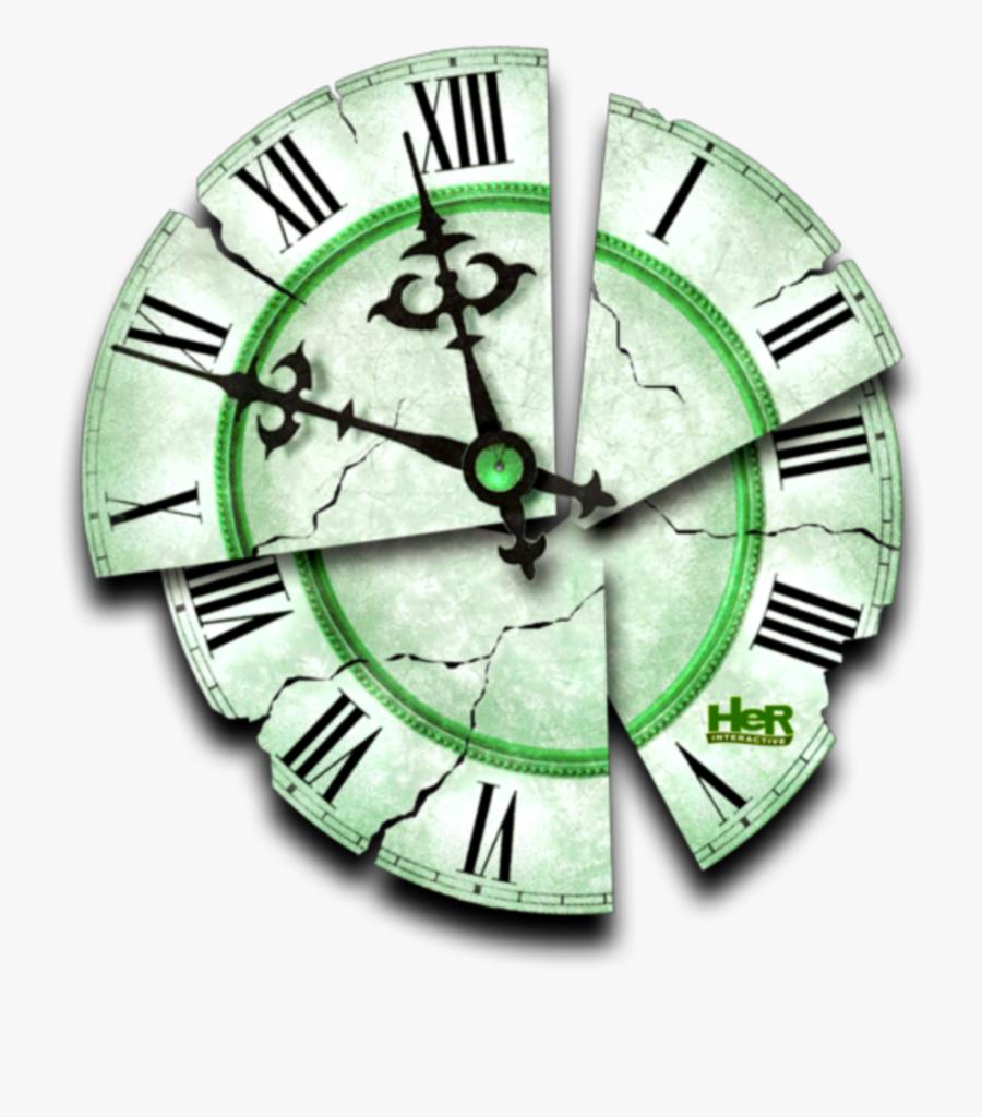 Transparent Timeclock Clipart - Broken Clock Tattoo Design, Transparent Clipart
