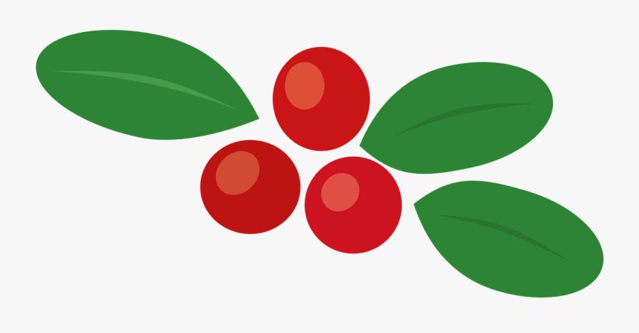 Cowberry Berry Autumn Leaf Food Png Image - Autumn Berries Clip Art, Transparent Clipart