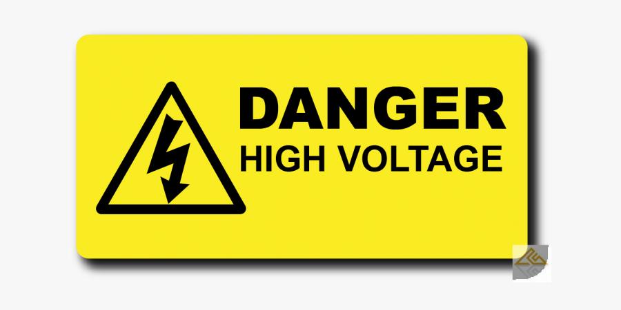 High Warning Voltage Hazard Label Free Transparent - Dangers High Voltage, Transparent Clipart
