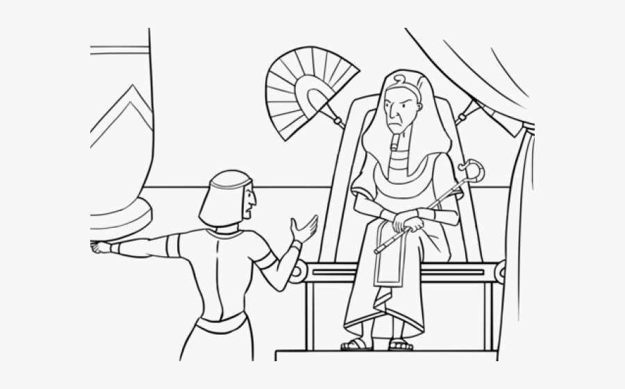 Shrub Bushes Clipart Father And Son - Pharaoh And Moses Coloring Sheet, Transparent Clipart