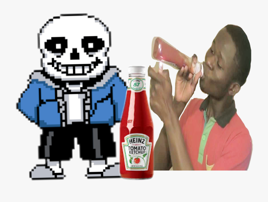 Transparent Ketchup Clipart - Comic Sans Undertale Meme, Transparent Clipart