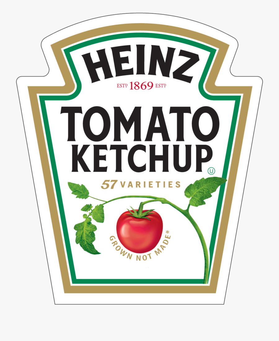 Heinz Tomato Ketchup Logo, Transparent Clipart