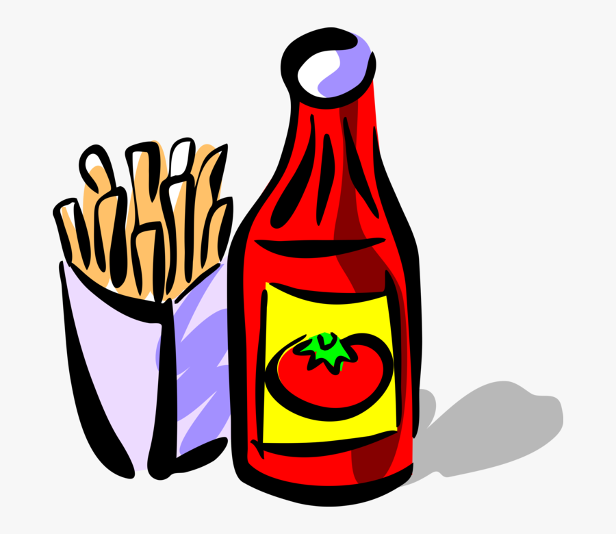 Vector Illustration Of Ketchup Bottle Condiment Of - Ketchup, Transparent Clipart