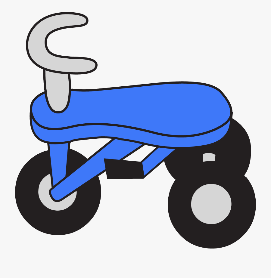 Little Blue Tricycle Clipart - Blue Tricycle Clipart, Transparent Clipart