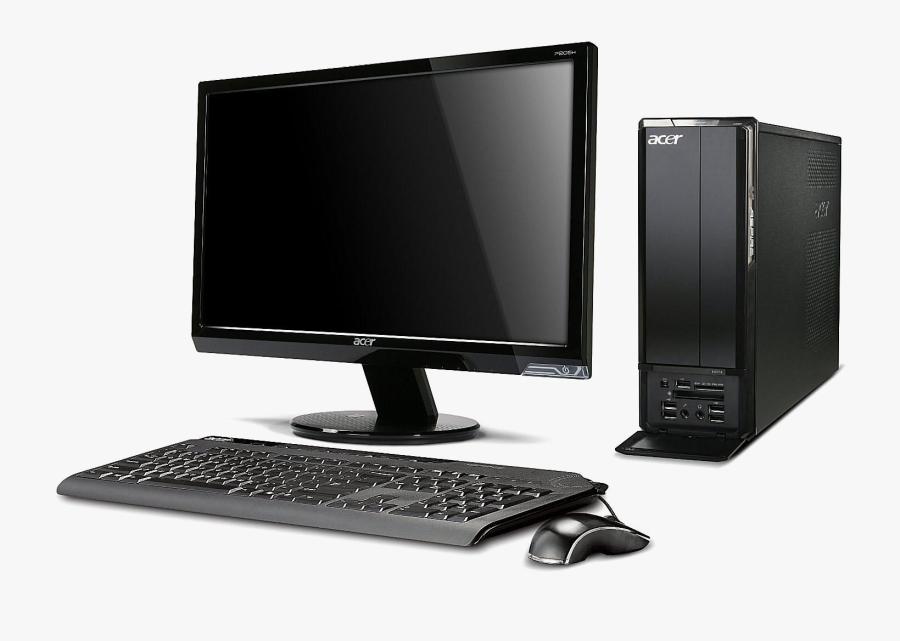 Desktop Computer Png Clipart - Acer Aspire Desktop, Transparent Clipart
