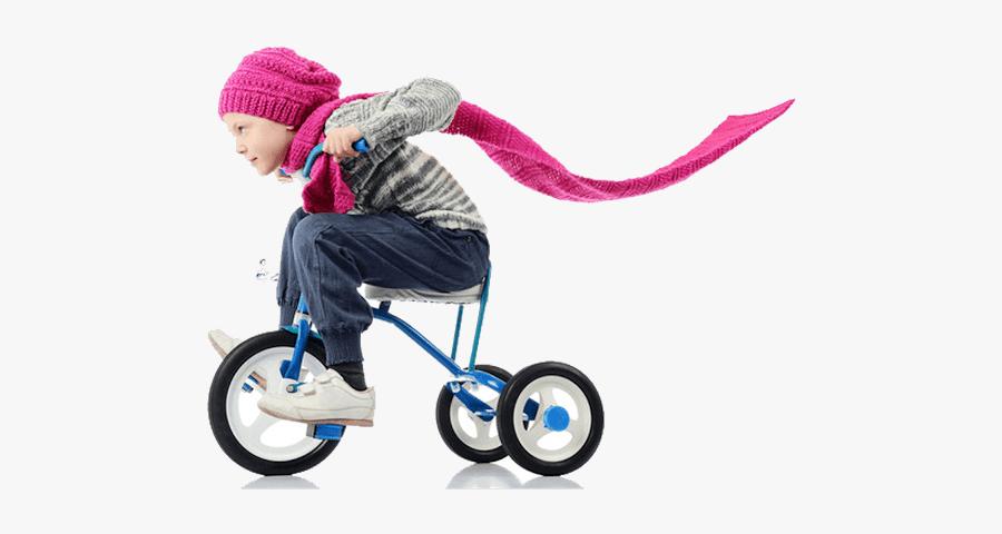 Маленькая Девочка С Велосипедом, Transparent Clipart