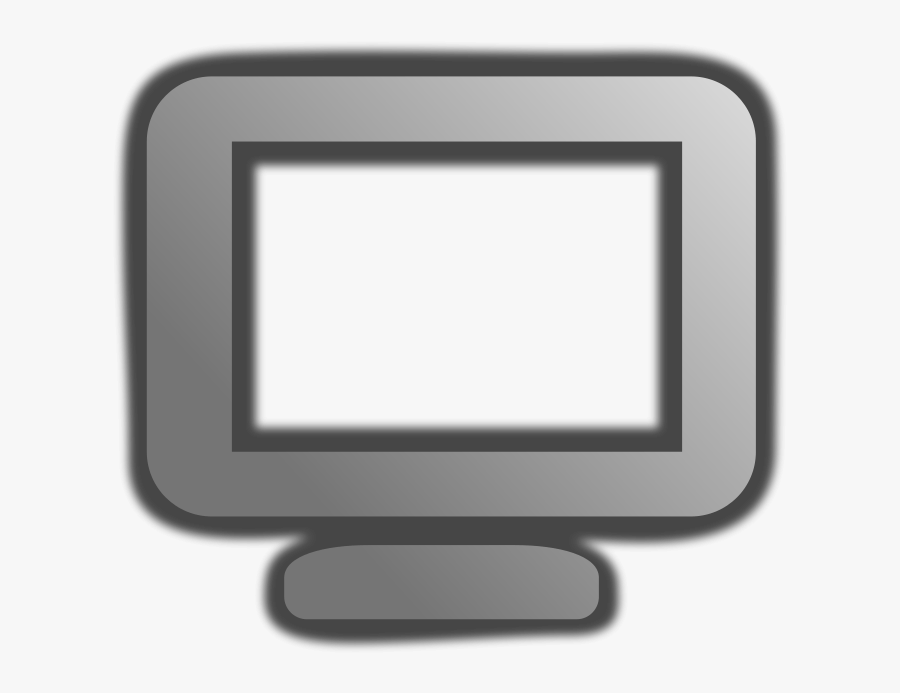 Free Free Computer Image - Grey And Black Computer Icon, Transparent Clipart