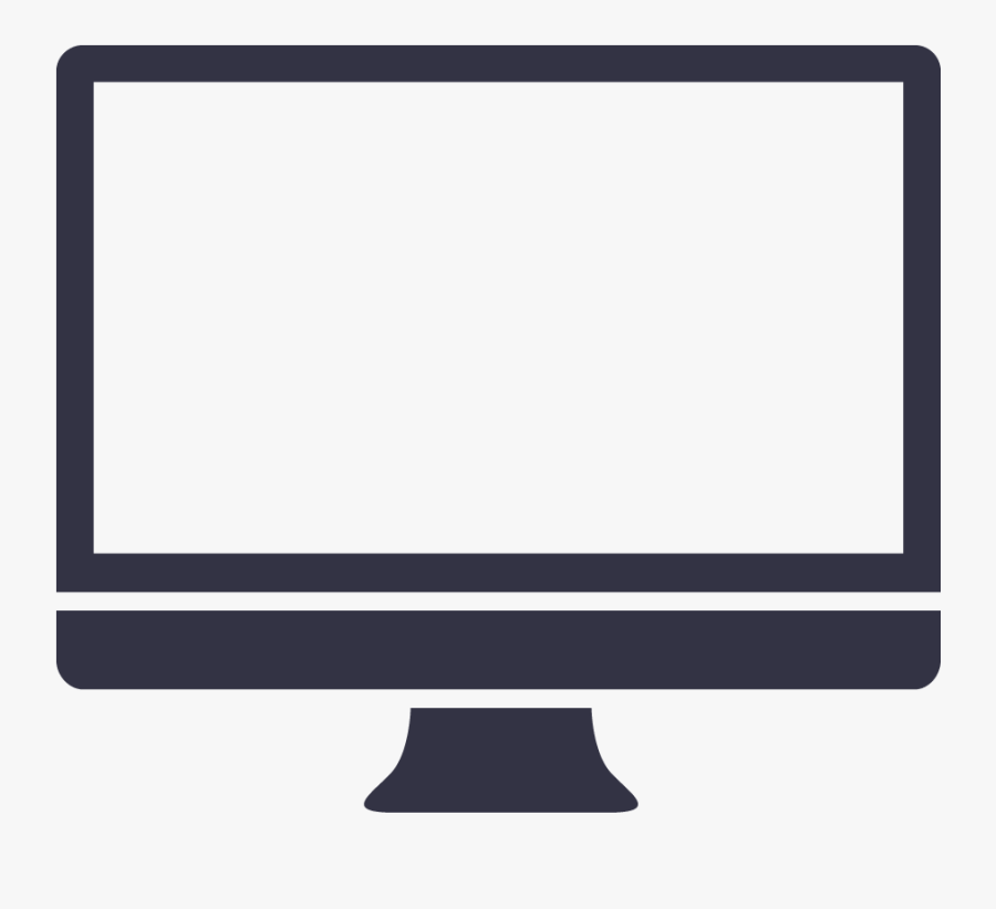 Svg Black And White Display Clipart Computer Screen - Mac Computer Clipart Png, Transparent Clipart
