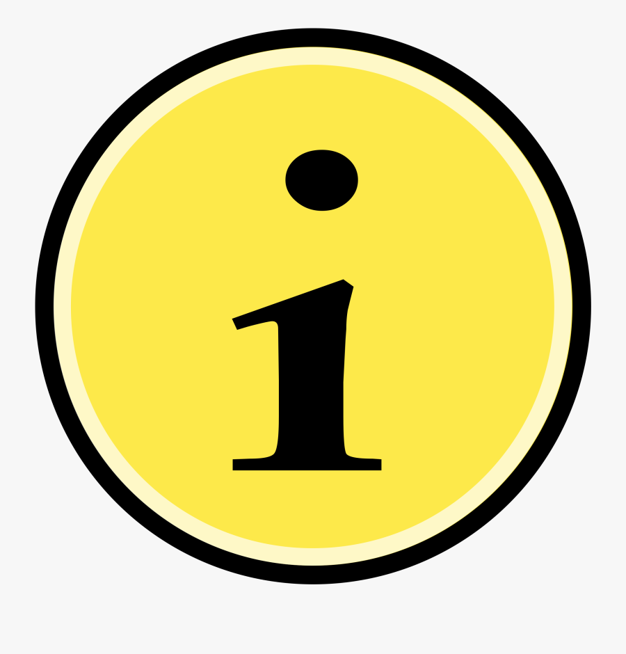 Emoticon,area,symbol - Information Clipart Yellow, Transparent Clipart