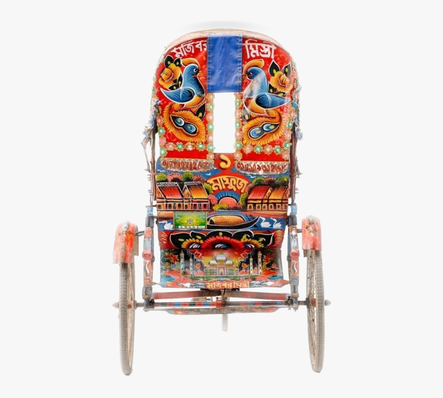Transparent Rickshaw Clipart - Bangladesh Rickshaw Beautiful, Transparent Clipart