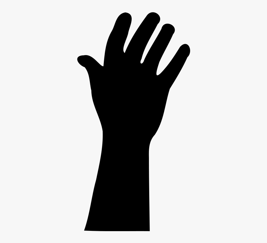 Raised Hand In Silhouette Clip Art Download - Raise Your Hand Transparent, Transparent Clipart