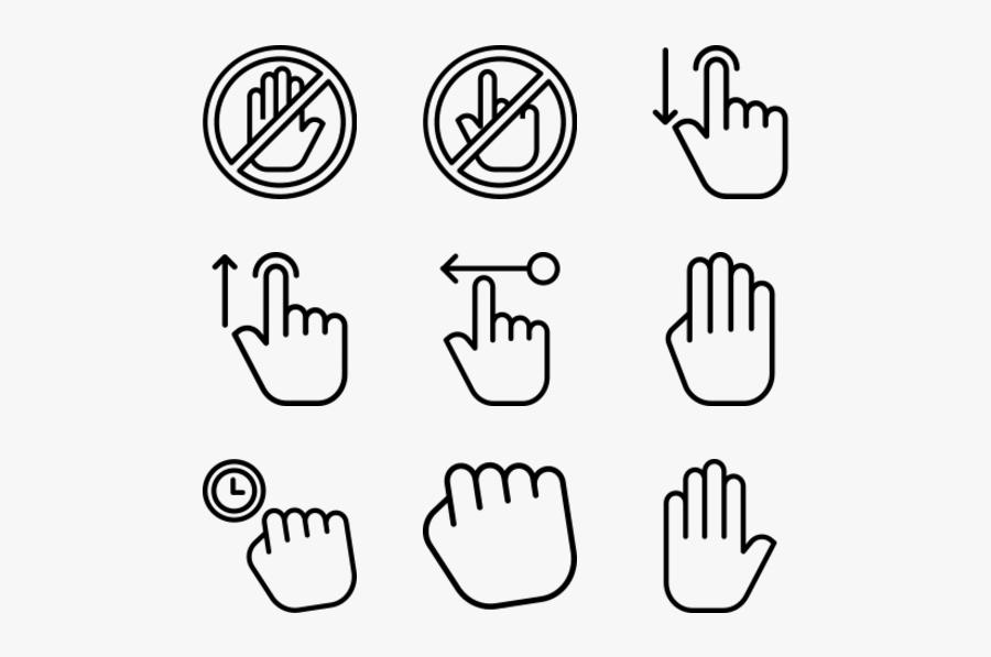Gestures - Hand Icon, Transparent Clipart