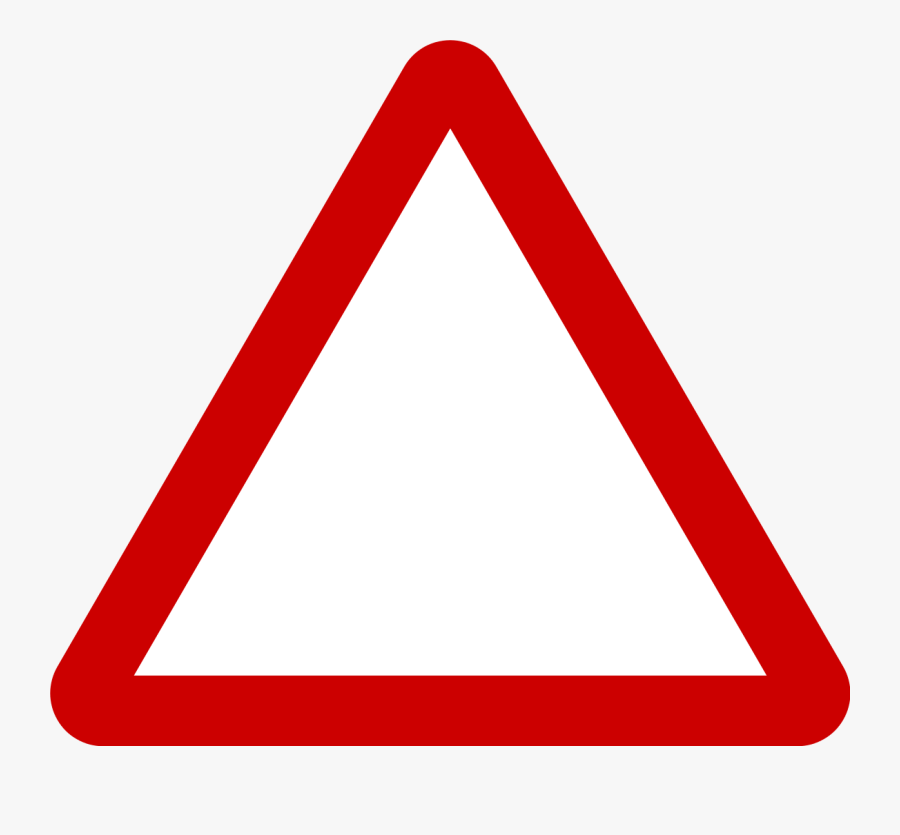 Triangle Warning Sign - Triangle Png Red Transparent, Transparent Clipart