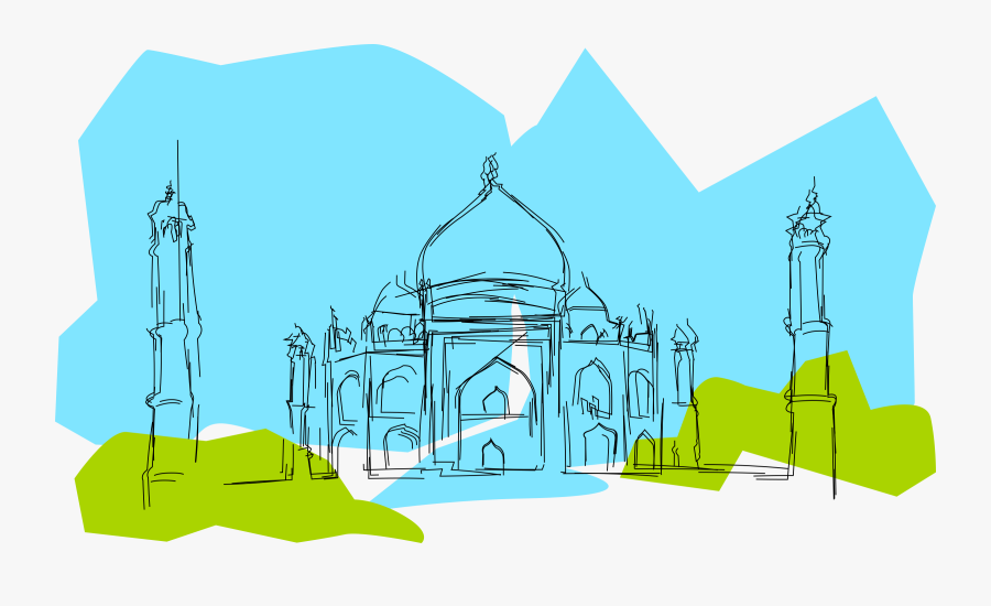 Clipart - Gambar Taj Mahal Kartun, Transparent Clipart