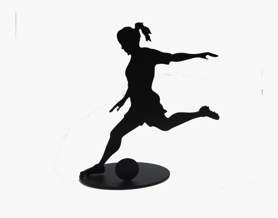Anvil Female Soccer V=1480735217 - Soccer Girl Silhouette Png, Transparent Clipart