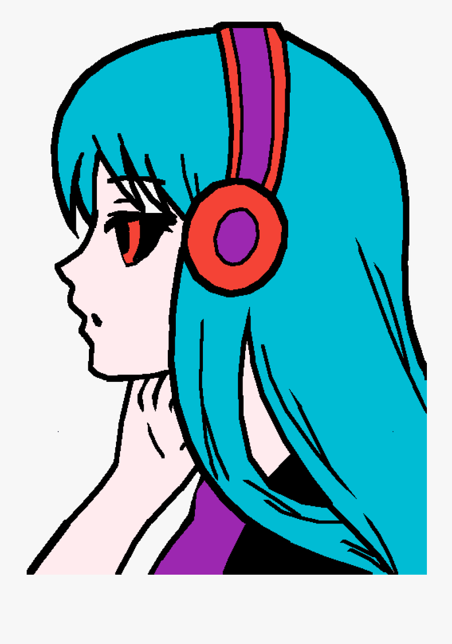 Anime Girl Easy Drawing Clipart , Png Download - Anime Girl Not Colored, Transparent Clipart