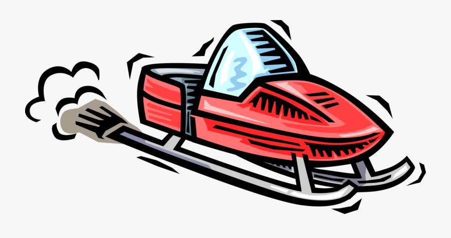 Vector Illustration Of Snowmobile Snowmachine Vehicle - Ski Doo Clip Art, Transparent Clipart
