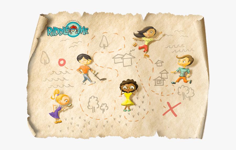 Riddle Me Scavenger Hunt Clues - Treasure Hunt Png Map, Transparent Clipart