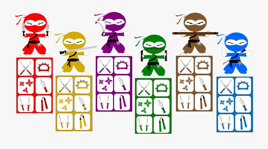 Ninja Scavenger Hunt, Transparent Clipart