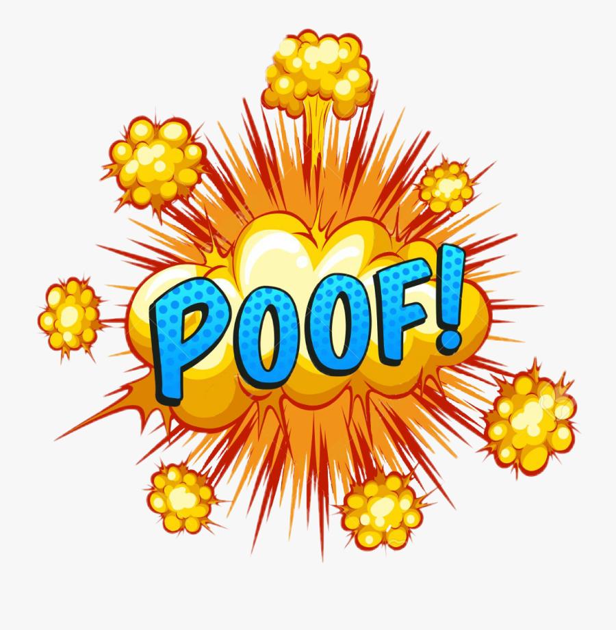 #poof #emoji #speechbubble #bubble #speech #bang #pow - Word Bang, Transparent Clipart