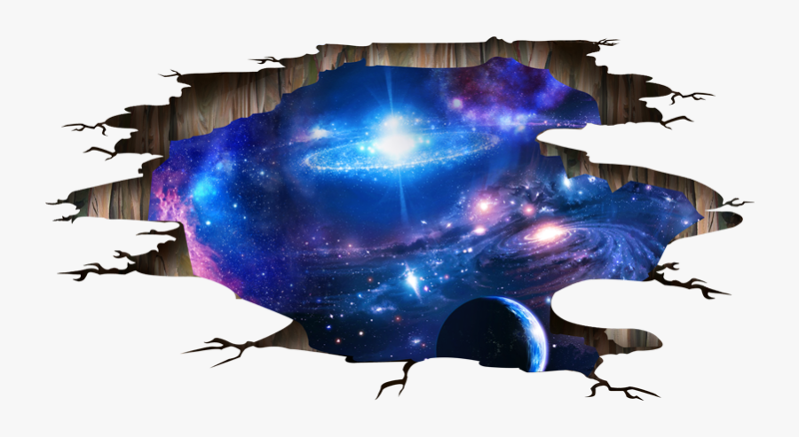 Clipart Freeuse Shijuehezi Universe D Wall Stickers - 3d Wall Sticker Png, Transparent Clipart