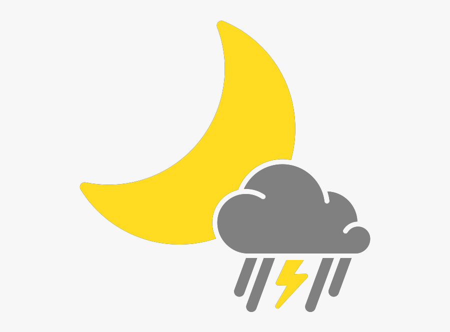Sunny Clipart Mixed Weather - Isolated Thunderstorms Weather Icon, Transparent Clipart