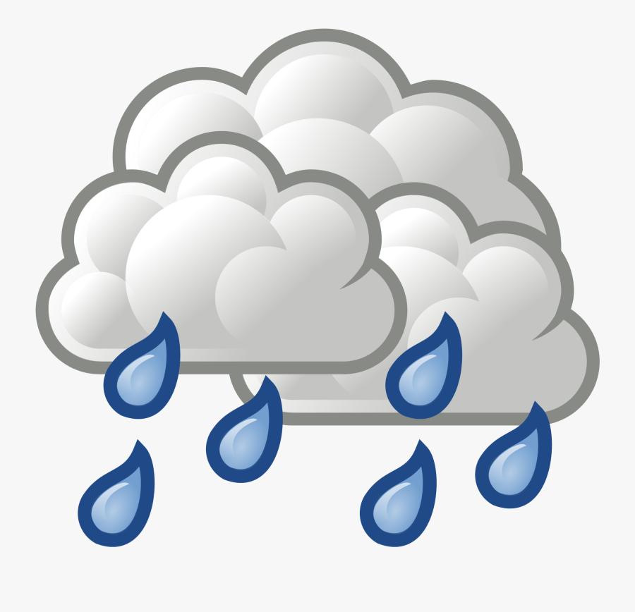 Thunderstorm Clipart Overcast - Rain Cloud Transparent Background, Transparent Clipart