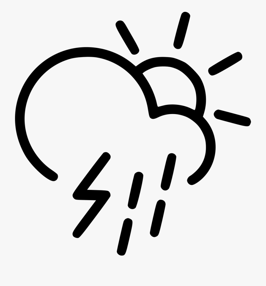 Day Thunderstorm Cloud Lightning Rain Shower Sun Comments - Transparent Rain Cloud Icon Png, Transparent Clipart