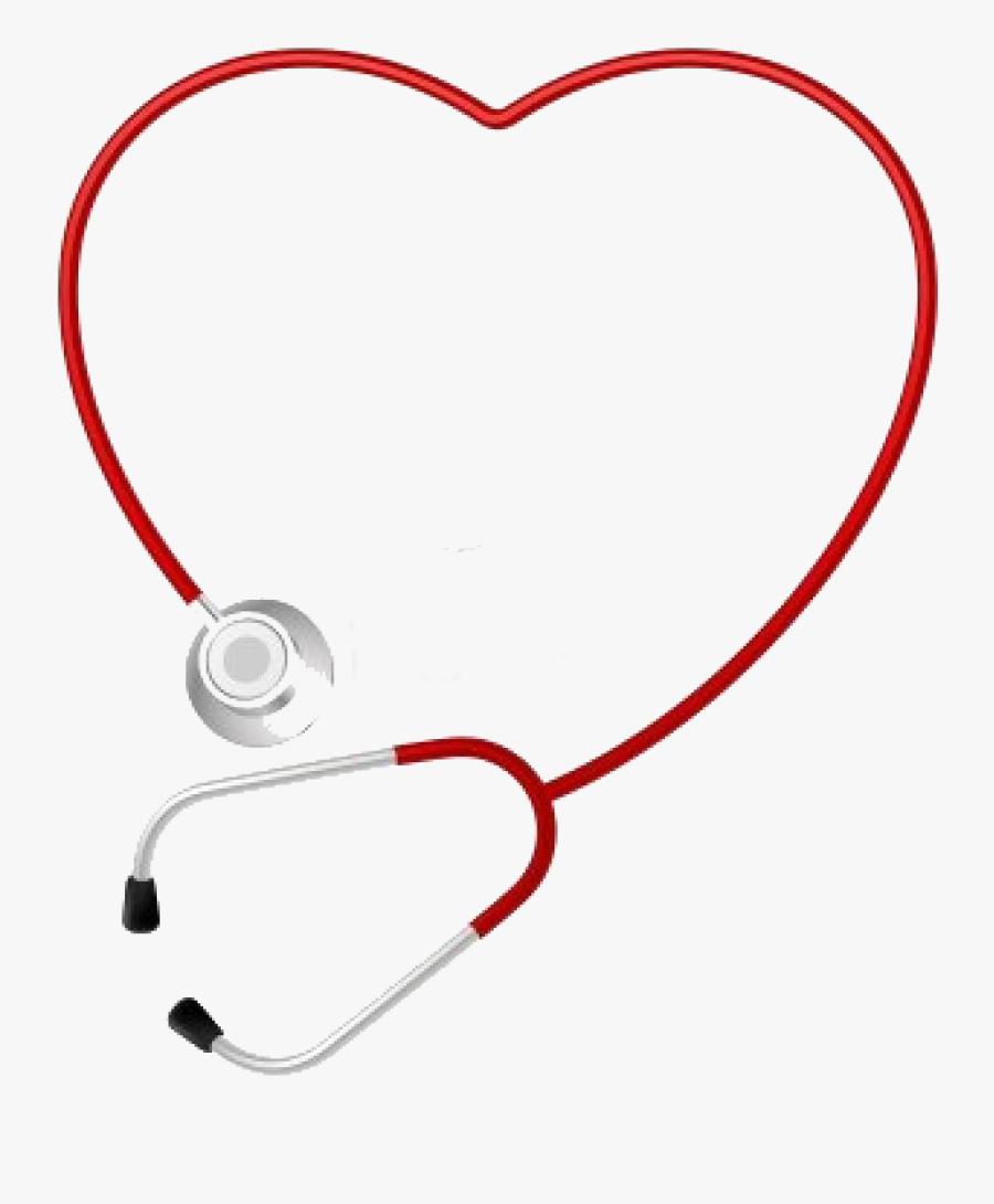 Stethoscope Heart Medicine Cardiology Pulse - Stethoscope Heart Transparent Background, Transparent Clipart