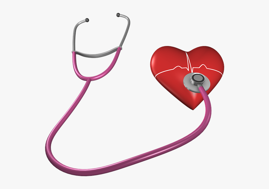 Heart, Shape, Stethoscope, Health Care, Heart Shape - Hypertension Transparent, Transparent Clipart