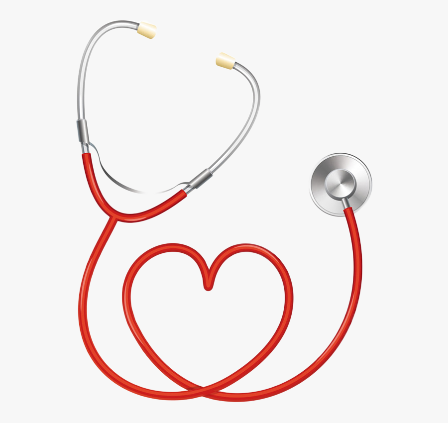 Stethoscope Heart Medicine Pulse - Stethoscope In Shape Of Heart, Transparent Clipart