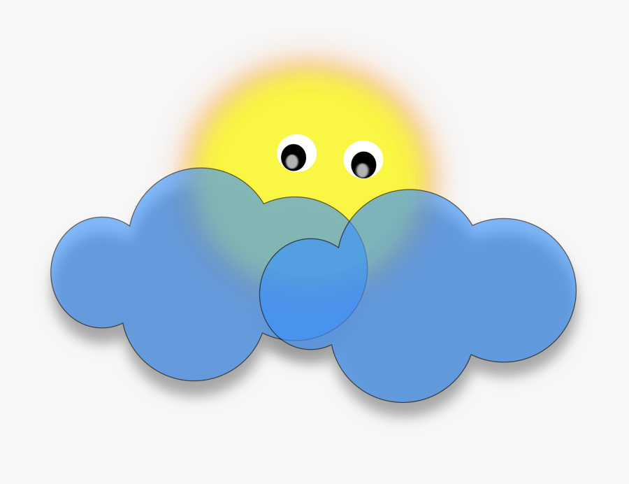 Thunderstorm Clipart Scattered Thunderstorm - Sun Behind Clouds Clipart, Transparent Clipart